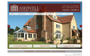 Website Design - Ashwell Conservatories