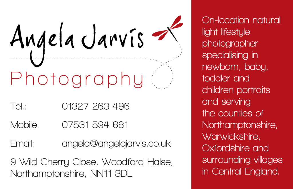 Angela Jarvis Photography - Business Card