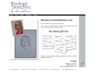 Website Design - Portrait Sketches