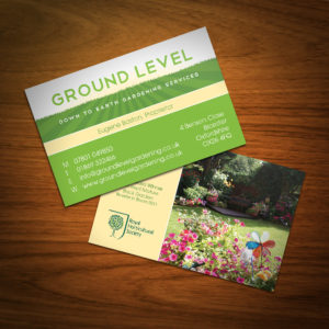 Business Card Design - Ground Level Gardening