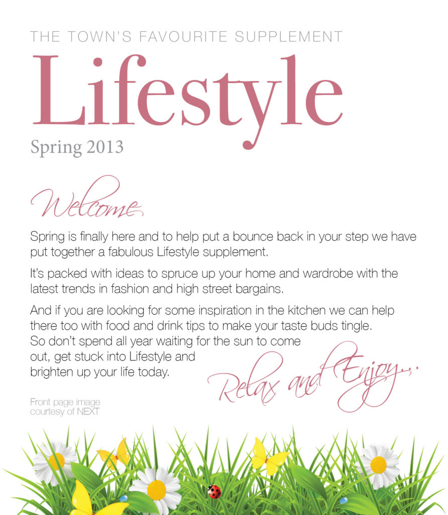Introduction to Lifestyle newspaper supplement.